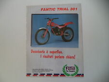 advertising Pubblicità 1985 MOTO FANTIC TRIAL 301