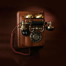 Retro Antique Vintage solid wood telephone Corridor Phone Royal Wall Phone