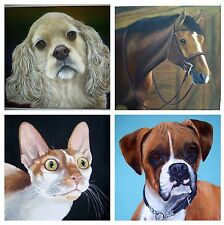Pet Portrait Painting Animal Artist Sharon Lamb Dog Art Cat Art Horse Art Custom