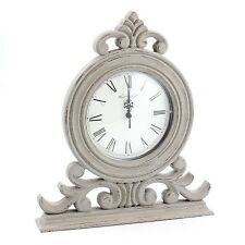 Shabby Chic Vintage Wooden Clock Home Living Room Bedroom Time Display Quartz