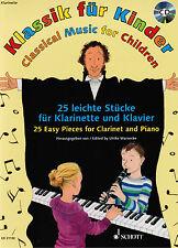 Klarinette (+ Klavier) Noten : Klassik für Kinder - mit CD - leichte Mittelstufe