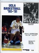 Dec 8 1990  UCLA vs Notre Dame Program  Pauley Pavilion