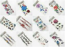 10 sheets  temporary flower tramp stamp butterfly tattoos for adults girls