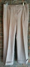 ANN TAYLOR Women's Long Trailered Tweed Pants/Trousers US8/UK12