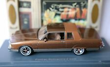 PONTIAC BONNEVILLE BROUGAM 2 DOORS COUPE BROWN METAL NEO 44800 1/43 BRAUN