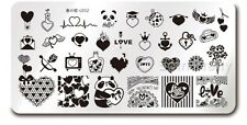 Valentine's Day DIY Nail Art Image Plate Love Heart Manicure Stamping Template