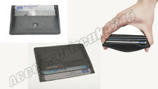 GENUINE LEATHER MENS SMALL ID CREDIT CARD WALLET HOLDER SLIM POCKET CASE