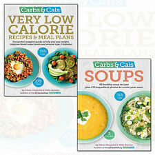 Carbs & Cals Soups and Very Low Calorie Recipes 2 Books Collection Set Pack New