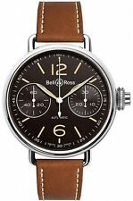 WW1-CHRONOGRAPH-MONOPOUSSOIR-HERITAGE | NEW  BELL & ROSS VINTAGE MENS WATCH
