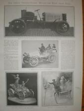 Pre Race article Gordon Bennet Motor Cup Paris 1901