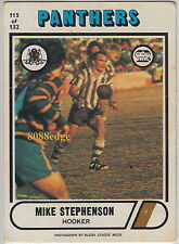 1976 SCANLENS RUGBY LEAGUE CARD #115: MIKE STEPHENSON - PENRITH PANTHERS