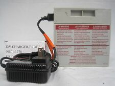 Power Wheels 12V Gray Battery 00801-1869 + 12 Volt Charger Fisher Price Genuine