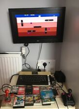 VINTAGE 80's ATARI 800XL COMPUTER RETRO HOME CONSOLE 2 Good Joysticks, 13 Games