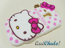 FUNDA CARCASA SILICONA PARA SAMSUNG GALAXY S3 MINI I8190 HELLO KITTY BLANCA+FILM