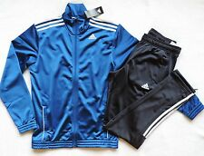 NWT adidas Men's Entry Tracksuit, Regular Top & Bottom, Blue/Black, Size: XL