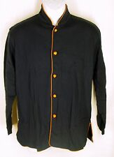 SHANGHAI TANG for CATHAY PACIFIC Shirt Mens Small Navy Flannel L/S Pajama Top S