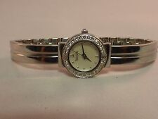 Bulova 96T09 stainless steel mother of Pearl Dial Crystals Bezel Ladie's watch