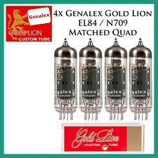 New 4x Genalex Gold Lion EL84 / N709 | Matched Quad / Quartet / Four Tubes