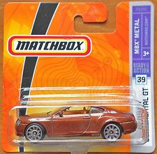 Matchbox Cars Bentley Continental GT 1:64 (2009) NEW
