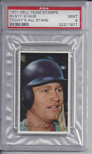 1971 Dell Team Stamps Rusty Staub    Montreal Expos         PSA 9