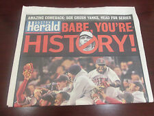 MLB-  BOSTON RED SOX  2004 ALCS-AMAZING COMBACK OVER N.Y. YANKEES- HERALD COVER