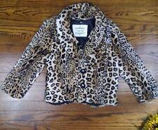 Heart Soul Leopard Print Faux Fur Jacket Blazer Coat Retails $88 Size Large