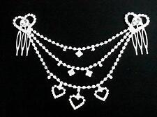 Haarschmuck Kopfschmuck Haarspange Strass Haarkamm Kette Hochzeit Haarkette