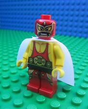 Lego Movie EL MACHO WRESTLER White Cape Master Builder Minifig Minifigure 70809