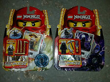 Lego NINJAGO Lot 2255 2256 Sensei Wu Garmadon SPINJAGO Minifigure GOLD Ninja NEW