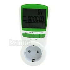 EU Plug Electric Volt Meter Watt Amp Consumption Energy Power Monitor Analyzer