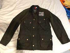 Barbour x Steve McQueen wax Jacket - MEDIUM - Olive Green / Baker biker GENUINE