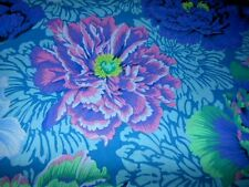 Philip Jacobs Y23 Blue Brocade Peony Fabric Fat Quarter 100% Cotton  Quilting