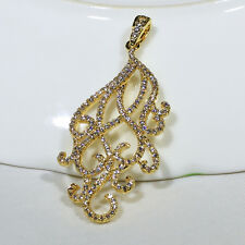 18K Yellow Gold Filled CZ Women Fashion Jewelry Luxury Necklace Pendant P3220