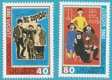 Georgien aus 2003 ** postfrisch MiNr.420-421 A - Europa: Plakatkunst!