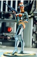 ANDREA MINIATURES 3D GIRLS G-018 - CYBER GIRL - 80mm WHITE METAL