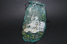 102 Glass Mables Colorful Oiginal Poly Bag Start Gaming