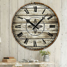 38cm Vintage Style Rustic Wall Clock Antique Retro Home Decoration Xmas Gifts