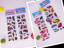 4pcs(no repeat) cars and Motorcycle Bubble stickers-boys favor stickers lot