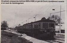 1984  --  TRAIN EN GARE DE COUVIN   BELGIQUE   3F571