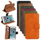 Matte Leather Wallet Phone Flip Case Cover For iphone 6 6s plus 5s 5 5c 4s 4