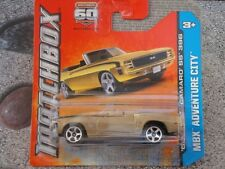 Matchbox 2013 #016/120 1969 Chevy Camaro SS 396 gold MBX Adventure City