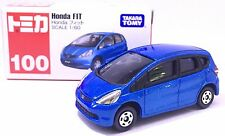 JAPAN TOMY TOMICA NO 100 HONDA FIT JAZZ BLUE 1/60 DIECAST CAR RARE