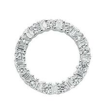 925 Sterling Silver CZ Full Eternity Ring Round Wreath Pendant Gift SPD0098