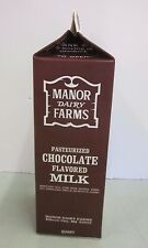 Vintage Manor Dairy Farms Chocolate Milk Carton Quart Howard Co Ellicott City MD