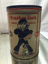 1990 Cracker Jack Tin Can Limited Edition Collectible Large