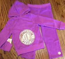 JUICY COUTURE BABY GIRLS BRAND NEW 2Pc SET HOODED SPORT SUIT Size 6-12M, NWT