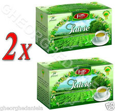 2x SAGE HERBAL TEA - 100% NATURAL; MENSTRUAL DISORDERS, EXCESIVE SWEAT,  DIABETS
