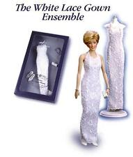 "Franklin Mint Princess Diana White Lace Gown Outfit Ensemble for 16"" Doll NRFB"
