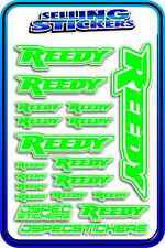 REEDY RC STICKERS DRIFT TOURING MOTOR ESC BATTERY 1/12 1/10 AE RACE GREEN WHITE