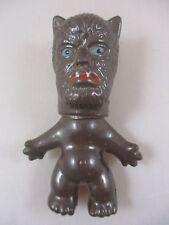 Vtg 1960s Plastic Wishnik Troll Wolfman Horror Monster Figure Doll Hong Kong